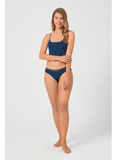 Cottonhill Vişne File Lastikli Lazer Kesim Kadın Bikini Külot Yeşil